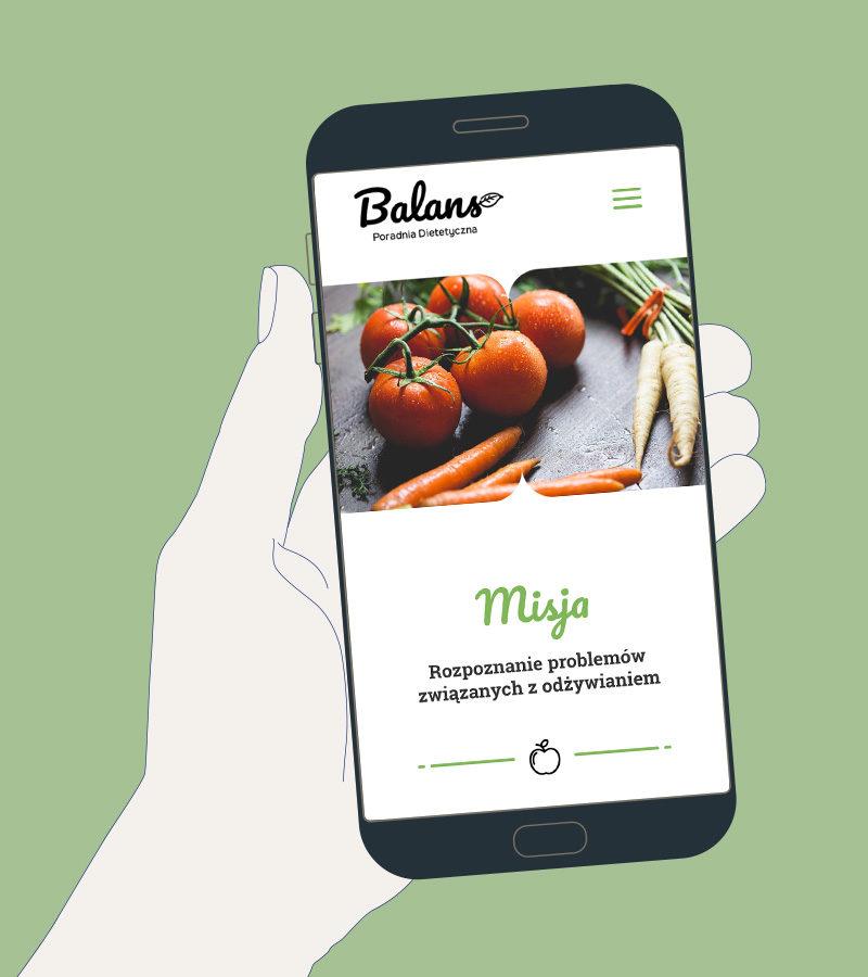 Strona internetowa Poradnia dietetyczna Balans