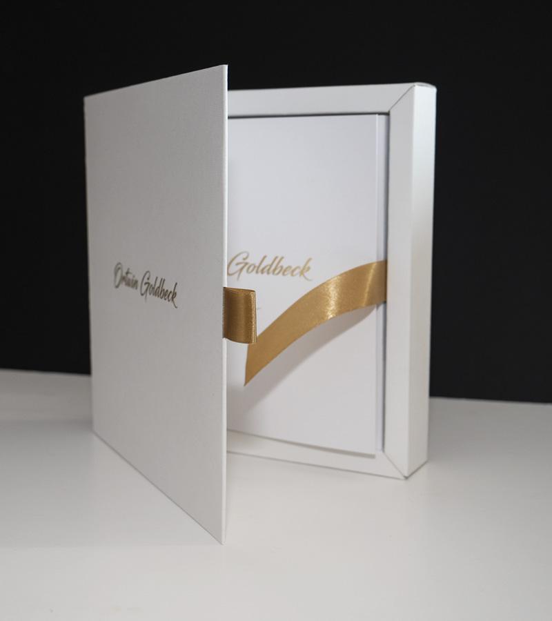 Album okolicznościowy Ortwin Goldbeck wozdobnym pudełku