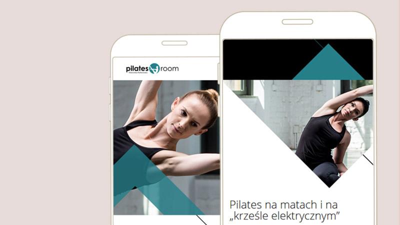 Strona internetowa poznańskiego studio Pilatesroom