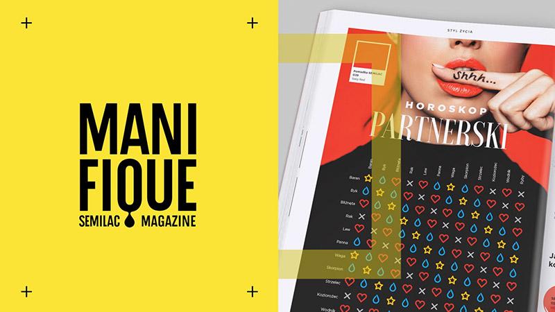 Kadr zanimacji promującej wsocial media magazyn Manifique
