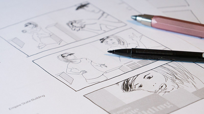 Storyboard do spotu reklamowego SemiBeats by Margaret