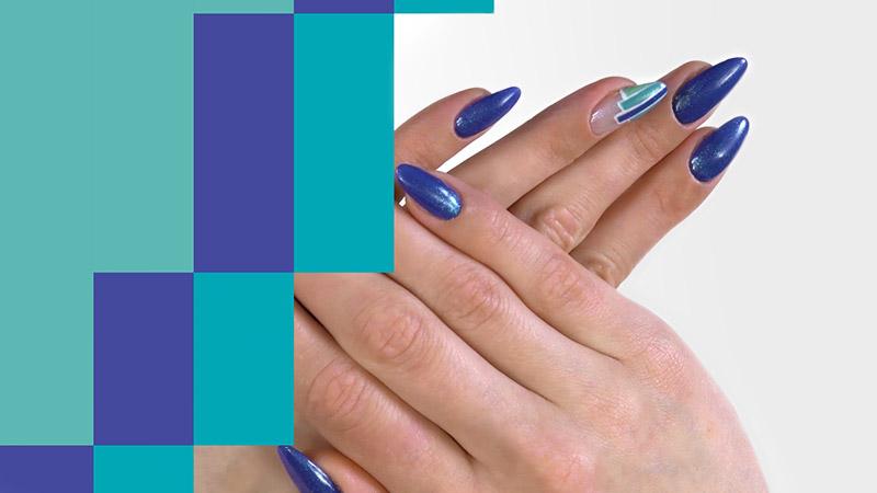 Ujęcie ztutoriala Semilac zestylizacją paznokci