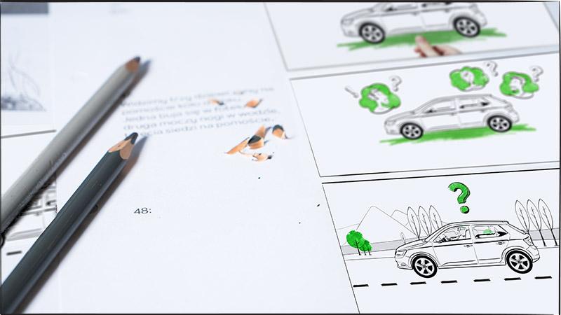 Storyboard doanimacji Skoda Akcesoria