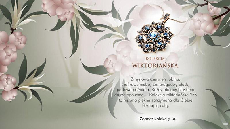 Prezentacja multimedialna przedstawiająca biżuterię YES