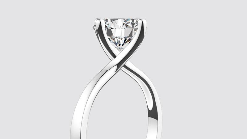 Ujęcie zanimacji 3D przedstawiającej pierścionek Valentine